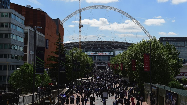 Arsenal fans are used to walking down Wembley Way