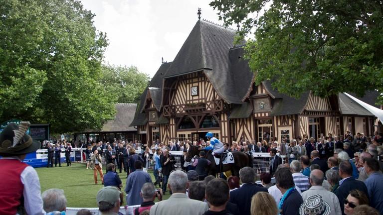 Deauville's picturesque winner's enclosure