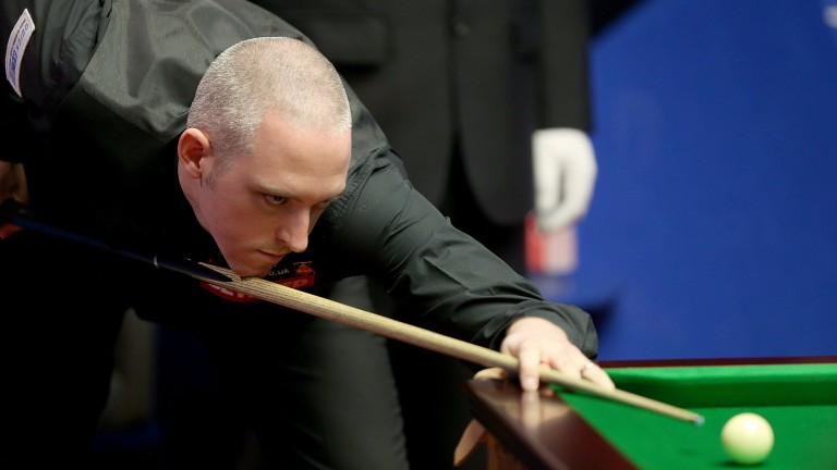 David Grace is in action in the Indian Open qualifiers