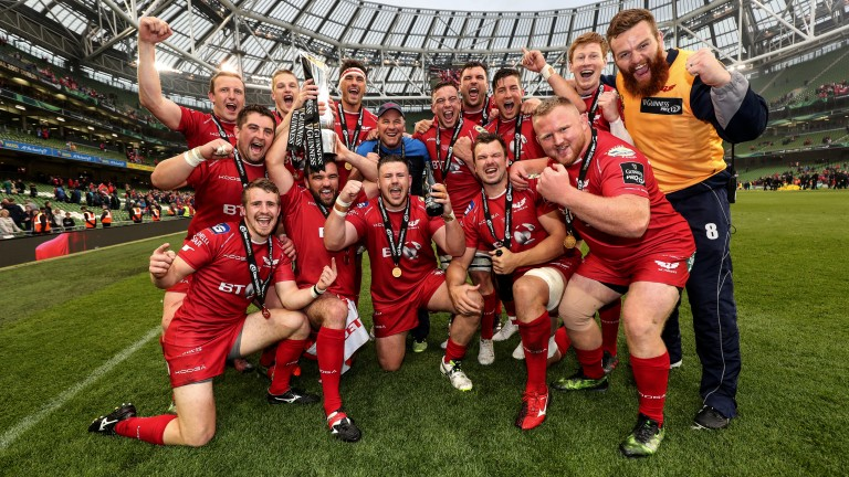 Scarlets celebrate May's Pro12 Grand Final success over Munster