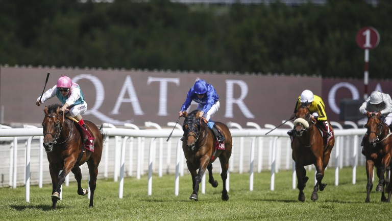 Expert Eye surges clear of his rivals to win the Vintage Stakes