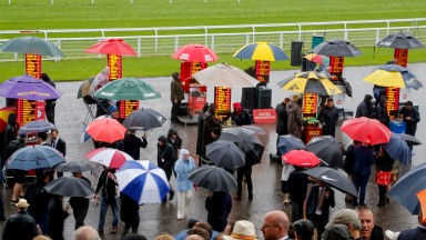 Rain and more rain: clerk of the course Seamus Buckley says it was the bleakest day he could recall