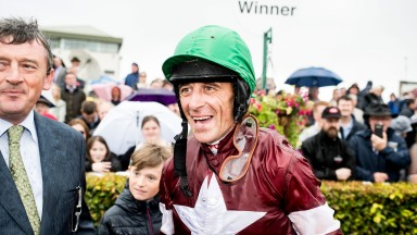 Davy Russell, alongside Eddie O'Leary, is delighted to ride another big-race winner for Gigginstown