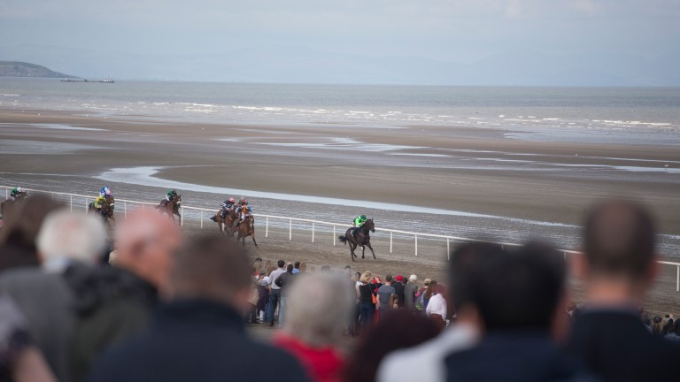 Crowd pleaser: beach racing around Europe is popular with fans