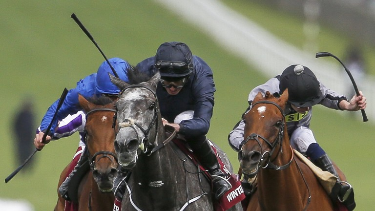 Winter (centre), seen winning the Nassau Stakes, is an odds-on shot for the Matron Stakes