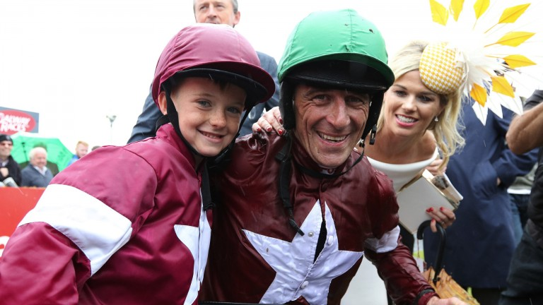 Davy Russell: won the feature Galway Plate for former boss Michael O'Leary and Gigginstown House Stud