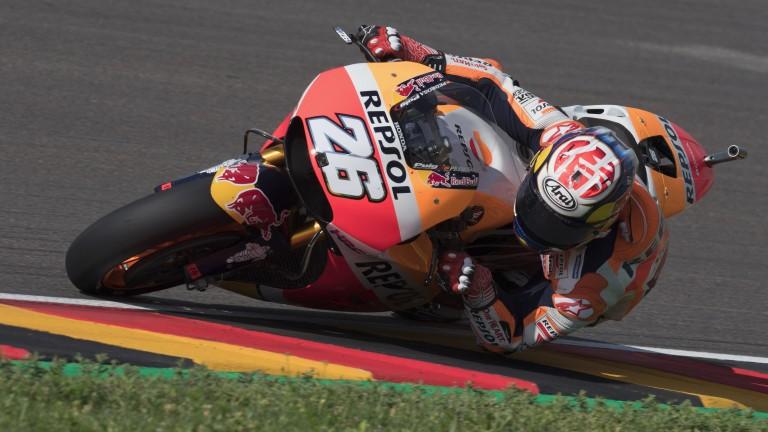 Dani Pedrosa was third in the German Grand Prix