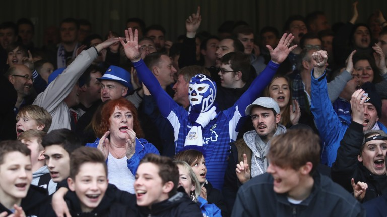 Eastleigh supporters get in the mood