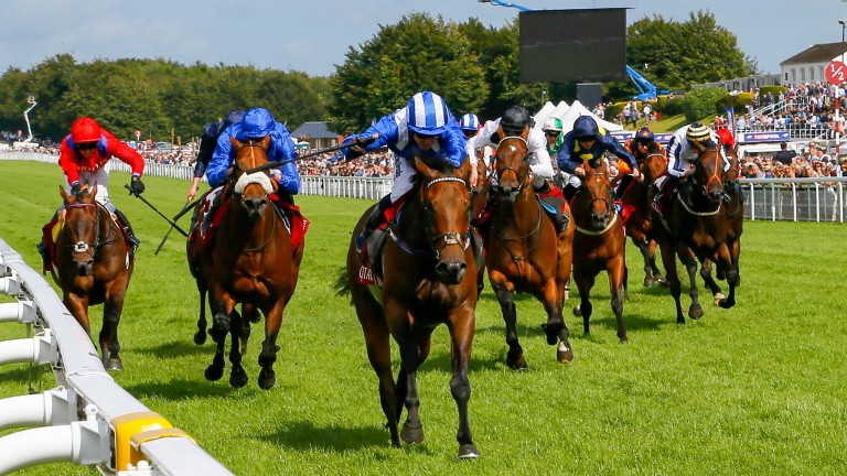 Battaash and Jim Crowley power to victory in the King George Stakes