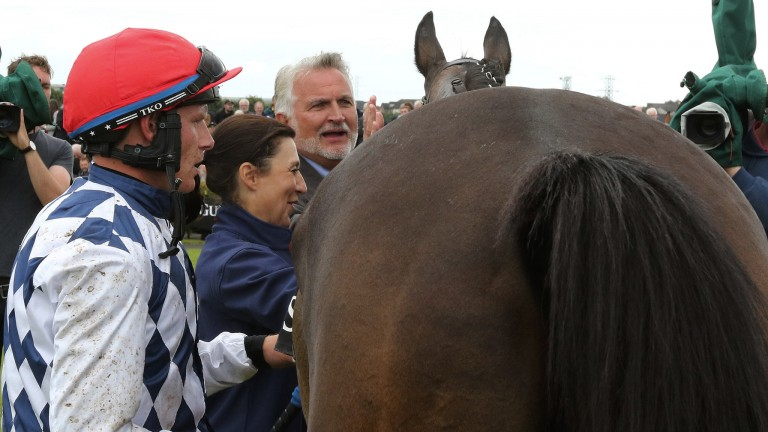 Galway: Paul Townend unsaddles Rathvinden after their victory in the Guinness Open Gate Brewery Novice Chase
