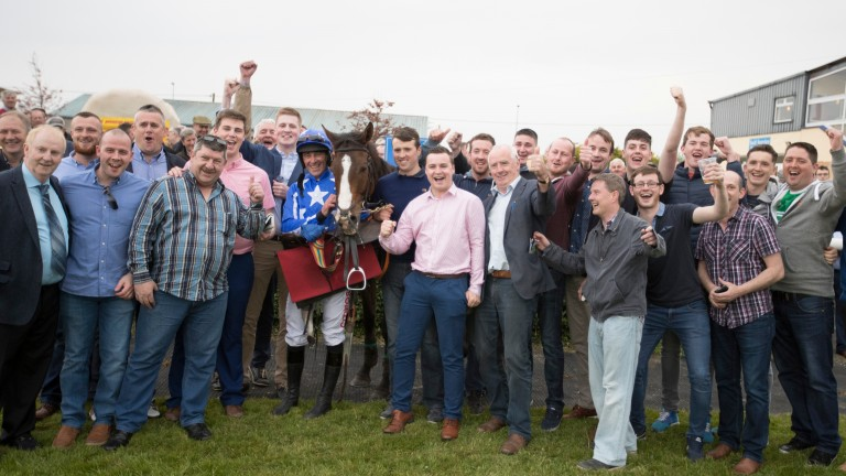 Top Of The Town and Davy Russell wins the Kedrah House Stud 'Well Chosen' Beginners Chase. Tipperary.Photo: Patrick McCann 11.05.2017