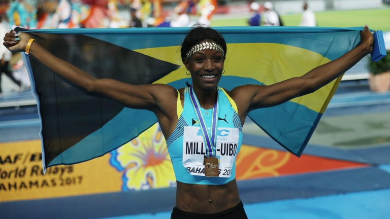 Shaunae Miller-Uibo of the Bahamas