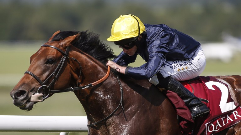Crystal Ocean: the three-year-old became Sea The Stars' third stakes winner of the Glorious meeting with success in the Gordon Stakes
