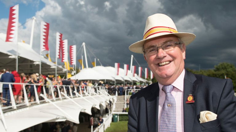 Seamus Buckley: smiling through the rain at his last Goodwood festival
