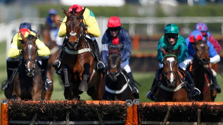 Captain Forez (left) pictured finishing behind Finian's Oscar at Aintree