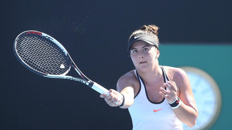 Bianca Andreescu reached the last eight in Washington DC last week