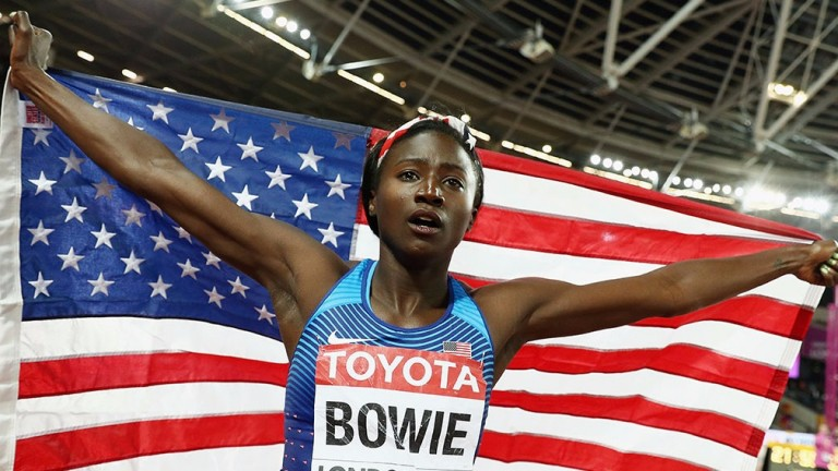 100m gold medallist Tori Bowie has a 200m pedigree