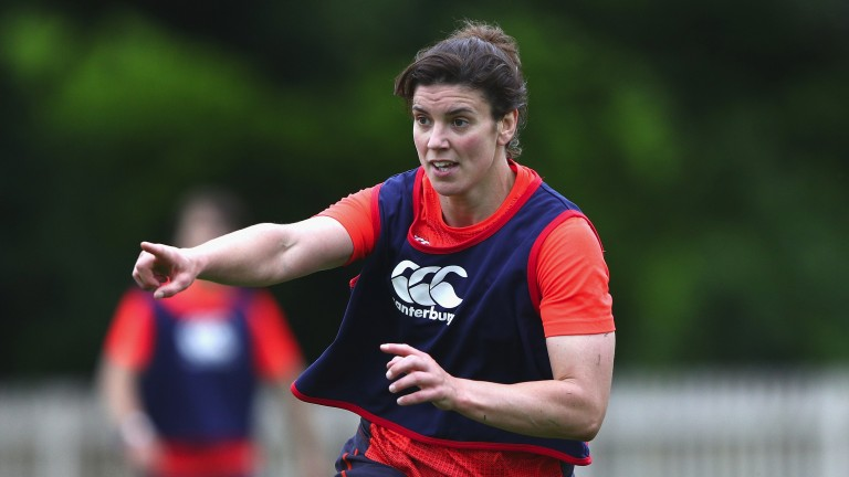 England captain Sarah Hunter will hope to lift the World Cup