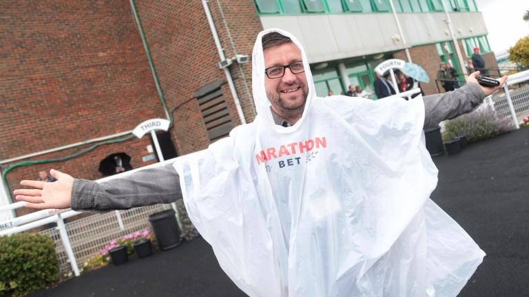 Dan Towse from Marathonbet is braced for rain at Brighton
