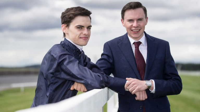 Joseph and Donnacha O'Brien.The Curragh.Photo: Patrick McCann 07.08.2017
