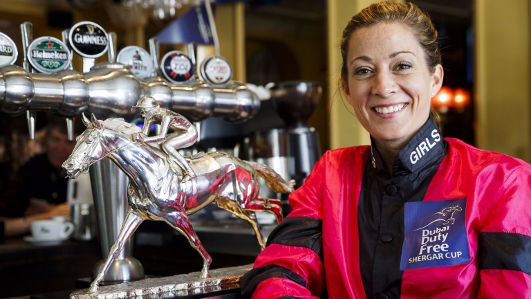 Hayley Turner: out of luck at the Shergar Cup but hoping for a winner in France on Sunday