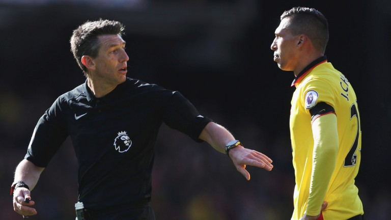 Watford's Jose Holebas is often in trouble