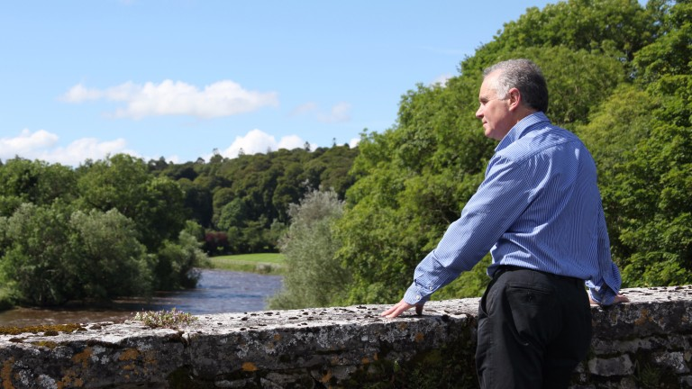 John O'Connor, the Ballylinch managing director, on the bridge over the River Nore that divides the stud from its former parent estate at Mount Juliet