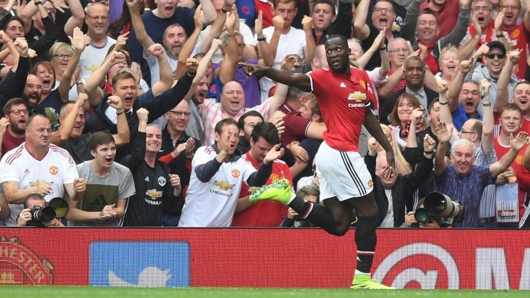 Romelu Lukaku scored two on his Man Utd debut