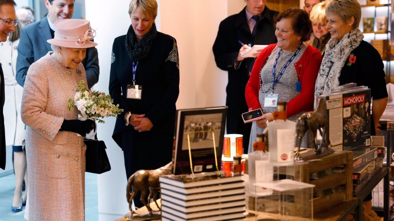 The Queen visited Newmarket's National Heritage Centre in November last year