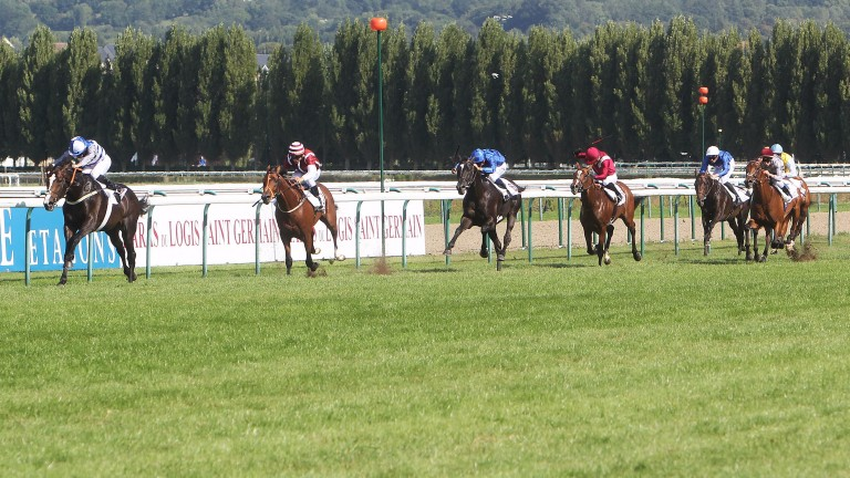 Eminent and Ryan Moore win the Prix Guillaume d'Ornano at Deauville
