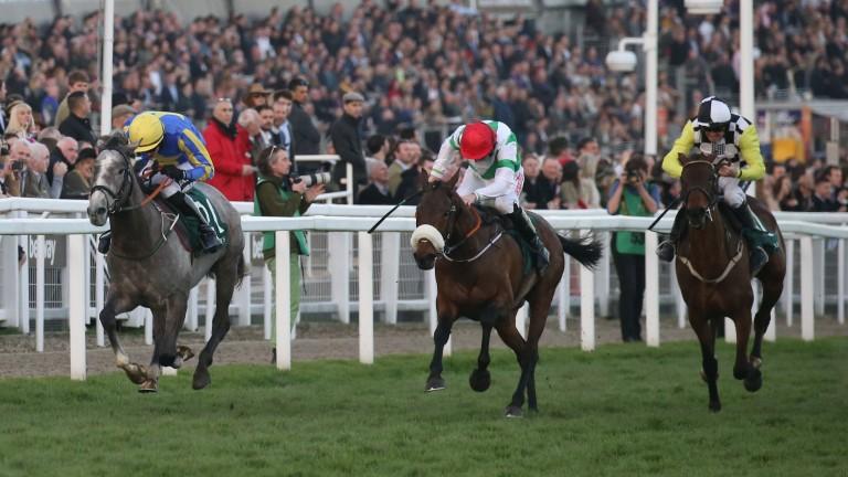 Fayonagh (centre) wins the Champion Bumper in March