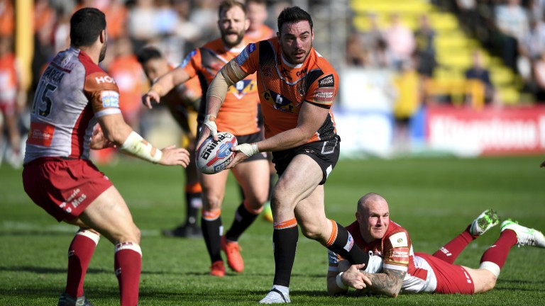 Castleford ace Grant Millington is value to score a try