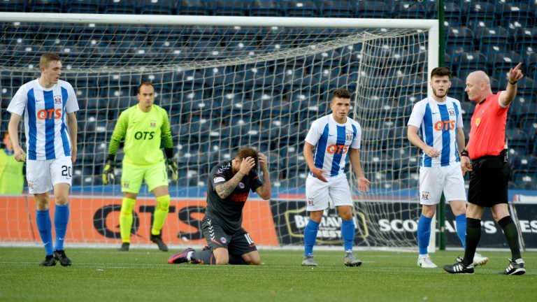 Kilmarnock could find themselves on the wrong end of the bookings count