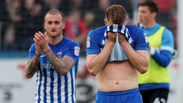 Hartlepool were relegated from Sky Bet League Two last season