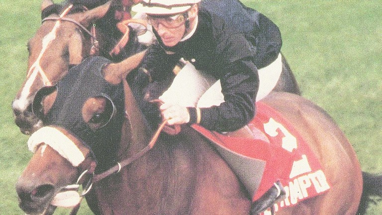 Teleprompter wins the 1985 Arlington Million