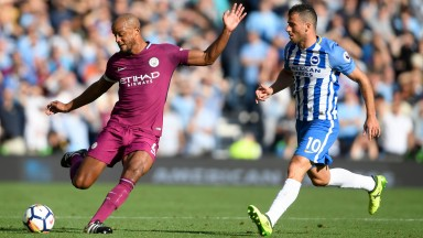 Manchester City enjoyed 78 per cent of the possession in their opening match against Brighton