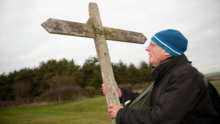 Rodney Masters walks on the Marlborough downs round the Manton estate