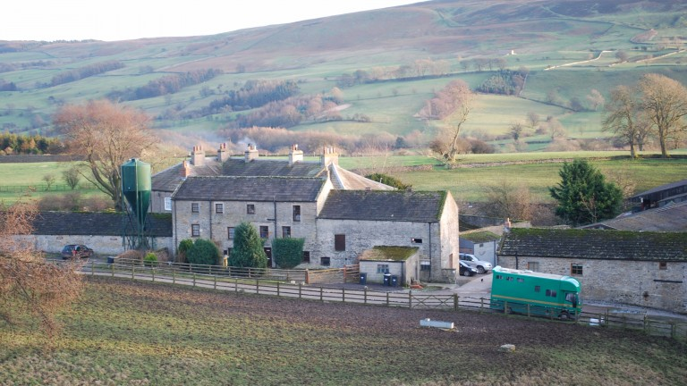 Sally Hall's 18th century yard in Brecongill sits at the foot of the moor