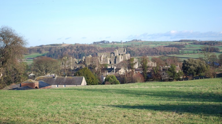 A view of Middleham Castle from the Low Moor