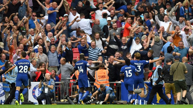 Chelsea grabbed a late winner against Tottenham at Wembley