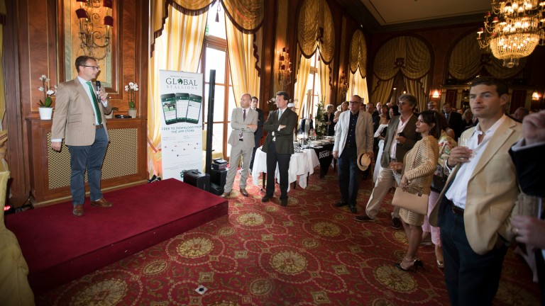Before the action started in the ring, the Racing Post and Weatherbys held a reception at the Hotel Royal Barriere