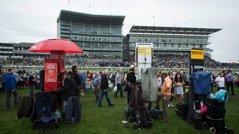Open for business: bookmakers set up shop in the middle of the Knavesmire