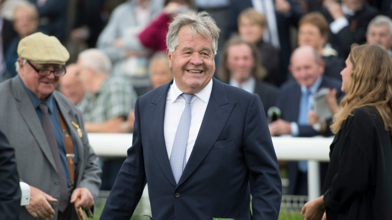 Sir Michael Stoute was able to celebrate a Group winner on his birthday courtesy of Intimation in the Prix de Flore
