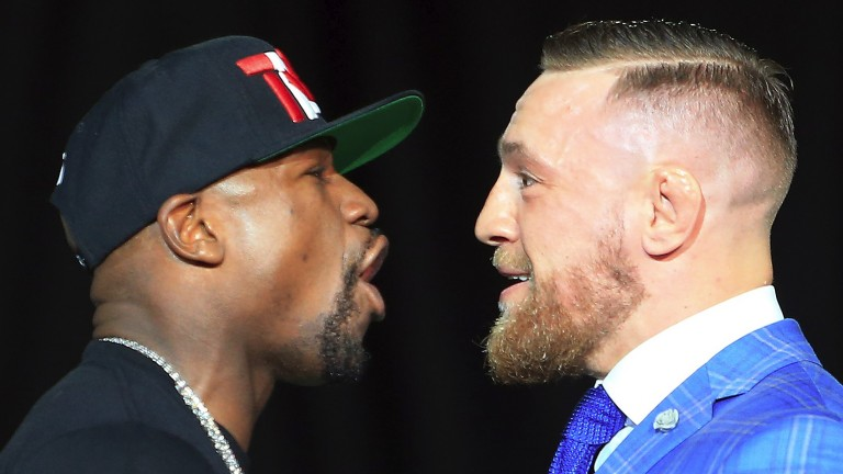 Floyd Mayweather and Conor McGregor (right)
