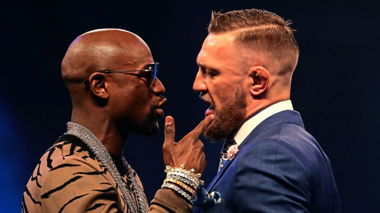 Squaring up: Floyd Mayweather Jr and Conor McGregor come face to face in July