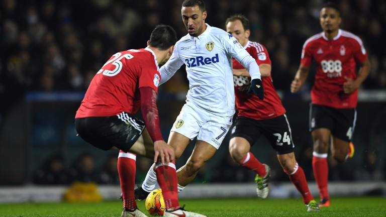 Leeds striker Kemar Roofe scored a hat-trick against Newport