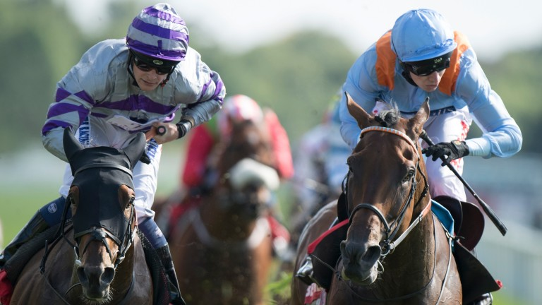 Flymetothestars (right) just comes off second best in Europe's richest Flat handicap