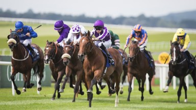Saxon Warrior and Donnacha O'Brien run out impressive winners at the Curragh