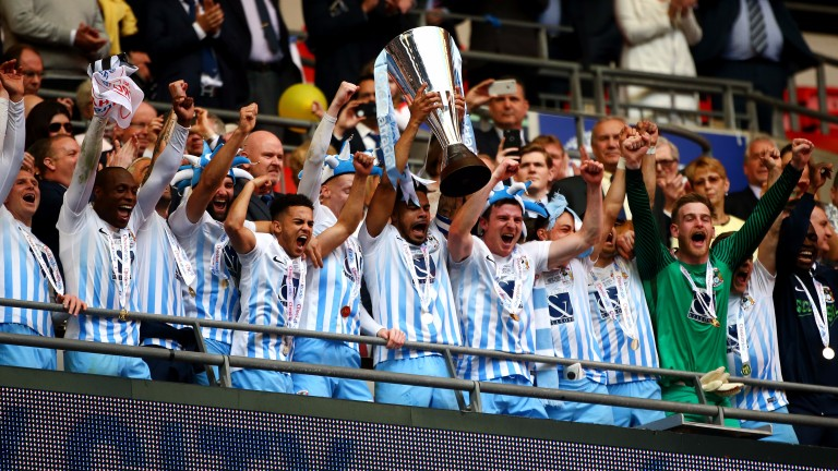 Coventry lift the EFL Trophy last season