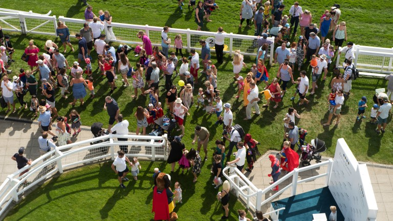 Fun for all ages: racegoers young and old enjoy their day out